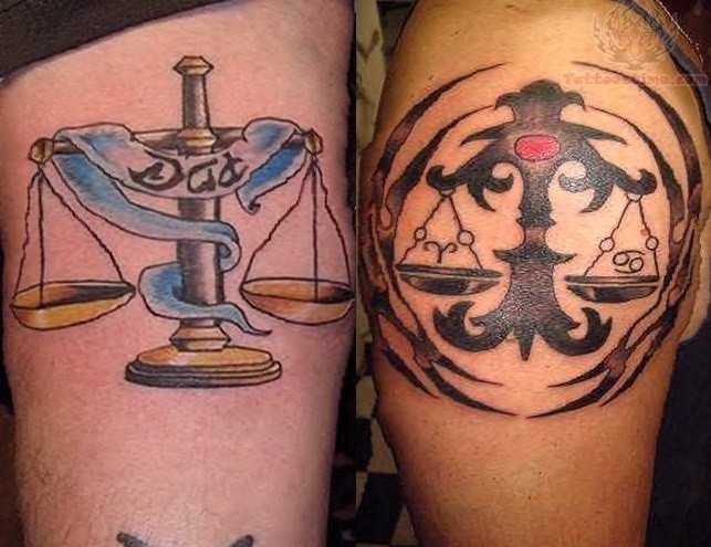 Libra-Best Zodiac Tattoos