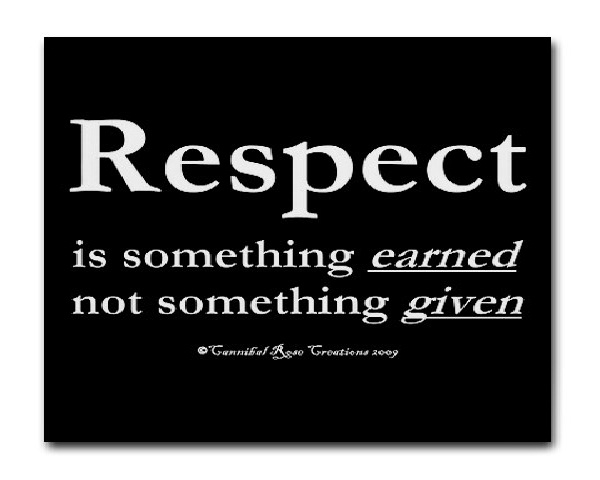 Respect-Things That Money Can't Buy