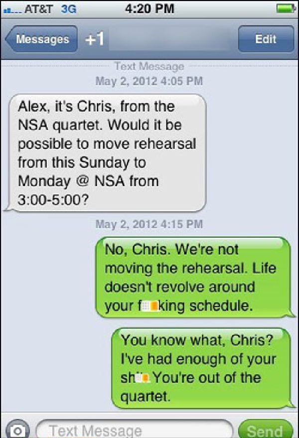 You are out!!-Funny Ways To Respond To A Wrong Number Text