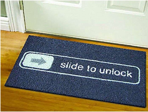 iPhone Lock Doormat-12 Creative And Funny Doormats Ever