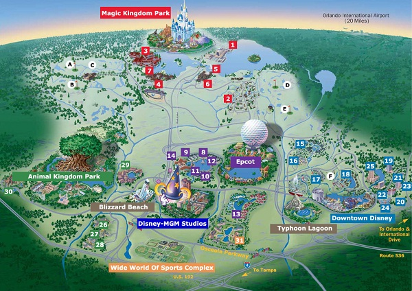 Its layout-Disney World Secrets You Didn't Know