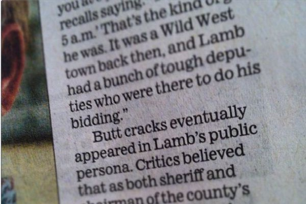 The Towns Butt Crack Sheriff-12 Funniest Typos Ever Made