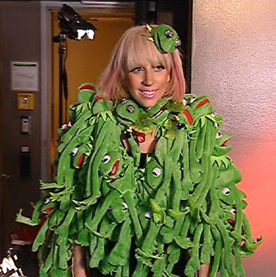 Poor kermit-Worst Lady Gaga Outfits
