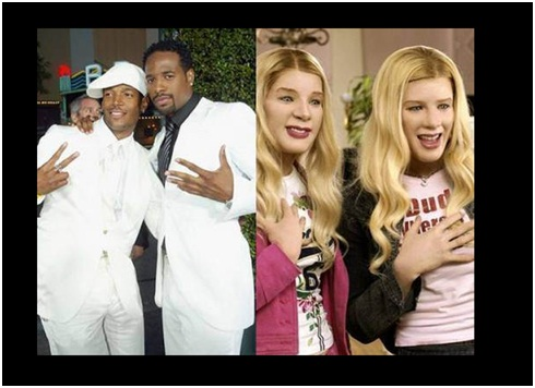 Shawn & Marlon Wayans in White Chicks-Celebrities From One Movie Role To Another