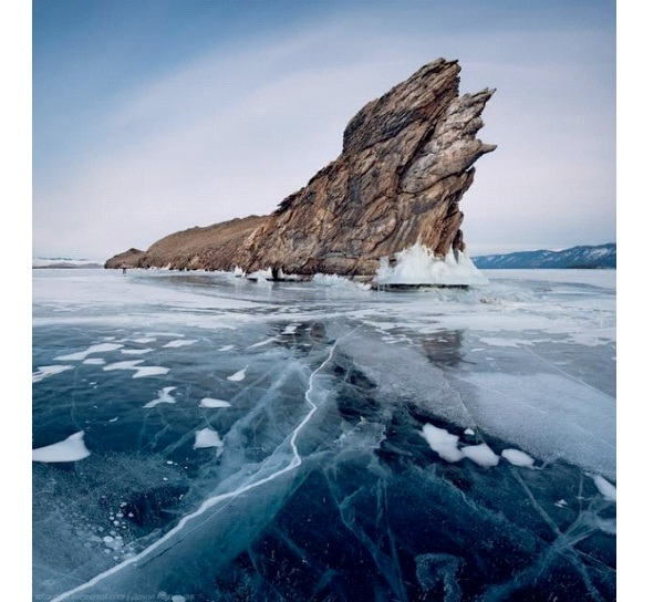 Frozen Lake Baikal in Siberia-Most Amazing Ice Formations