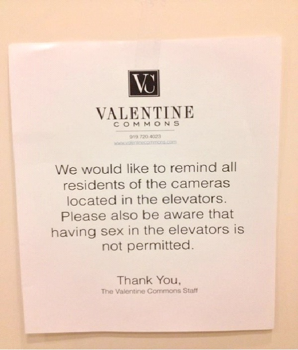 sex In The Elevators-Absolutely Hilarious Elevator Notes