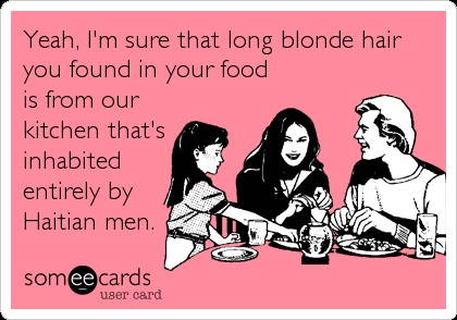 In your food-Long Hair Problems