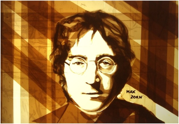 John Lennon-Amazing Packing Tape Art