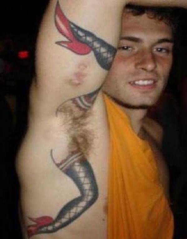 sexy-Bizarre Armpit Tattoos