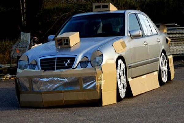 Cardboard?-Car Modification Fails