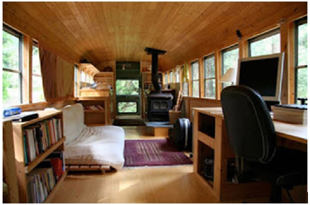 The Old School Bus-Coolest Homes Made From Vehicles