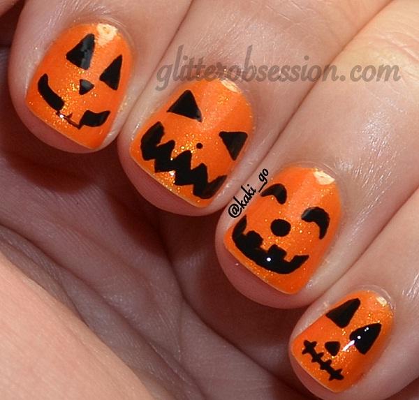 Pumpkins-Halloween Nail Art