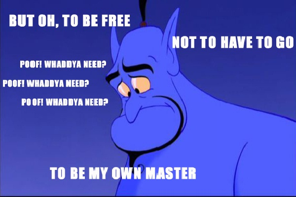 The master-12 Funny Quotes Told By Genie From Disney's Aladdin TV Show