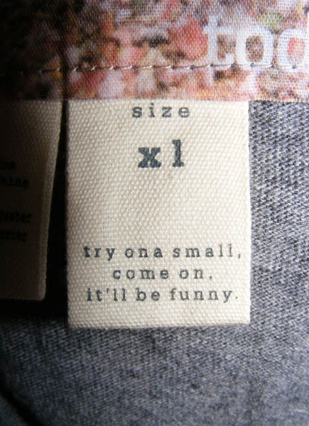 A bit too scathing?-12 Hilarious Clothing Tags You'll Ever See
