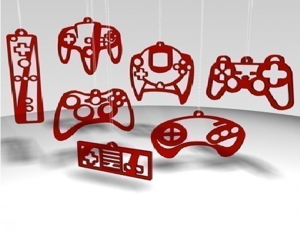 Consoles-Geeky Christmas Decorations