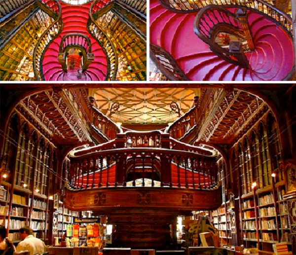 Lello Bookshop - Portugal-Amazing Staircases In The World
