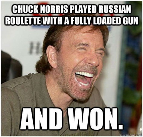 Chuck Wins At Russian Roulette-12 Hilarious Chuck Norris Memes Ever