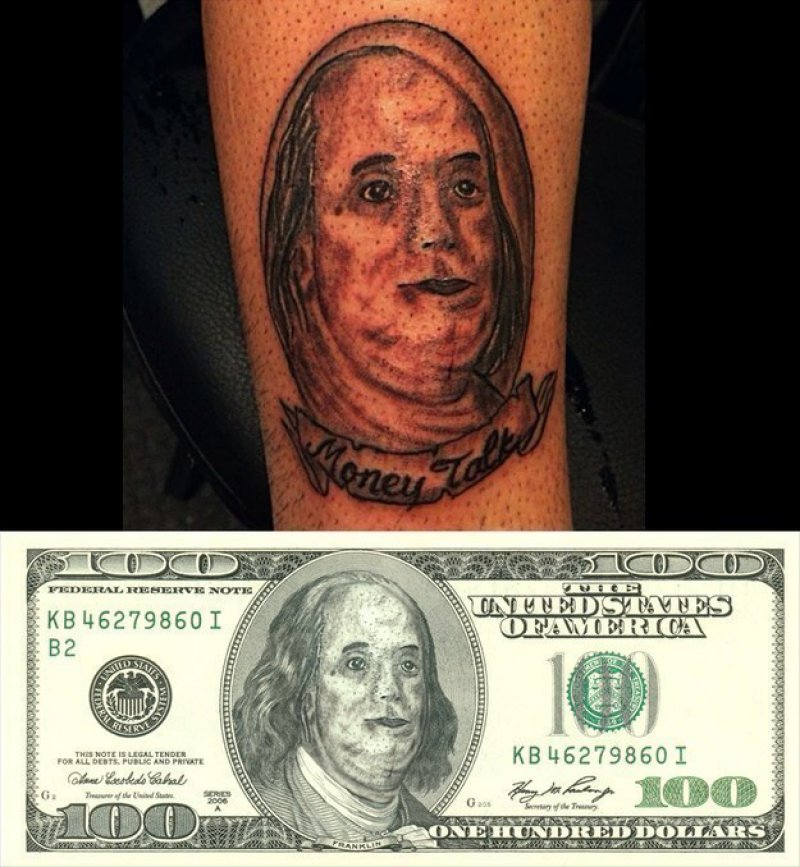 This Benjamin Franklin Inspired Tattoo-15 People Who Regretted Their Tattoos