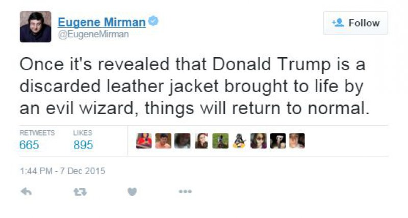 Comparing Him to a Discarded Leather Jacket!-15 Hilarious Tweets About Donald Trump Sure To Make You Laugh