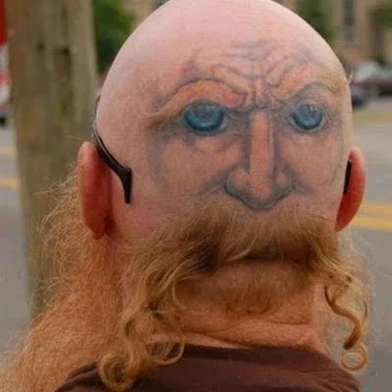 Lord Voldemort?-15 People With Terrible Face Tattoos