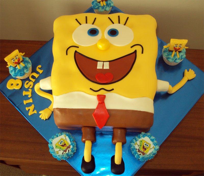 SpongeBob SquarePants Cake-15 Amazing 3D Cartoon Model Cakes Ever