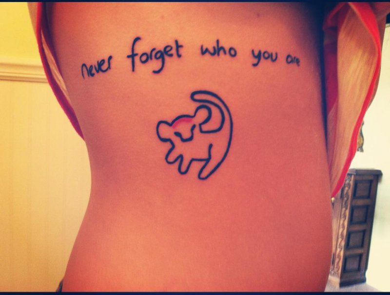 Simba Quote-15 Cutest Disney Tattoos That Will Make You Want To Have One