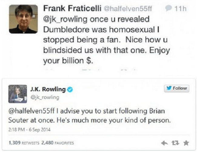 J.K. Rowling vs. Random Fan-15 Hilarious Twitter Comebacks Ever