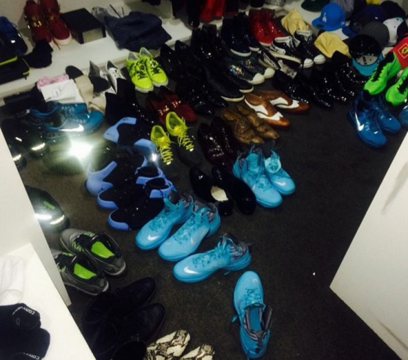 Showing off His Collection of Shoes-15 Things You Don't Know About Travers Beynon AKA CandyMan