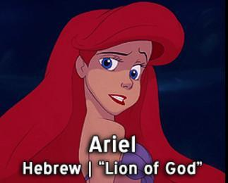 Ariel-15 Disney Princesses Names And Their Meanings In Different Languages