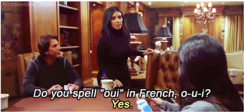 When Kourtney Needs Some Help with Spelling-15 Times Kim Kardashian Was Shut Down By Her Family