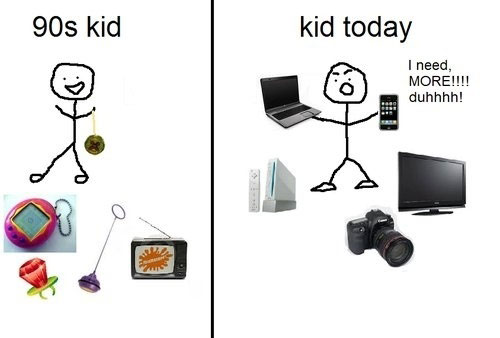 90s Kid Vs Kids Today-Pictures That Will Make You Pity This Generation