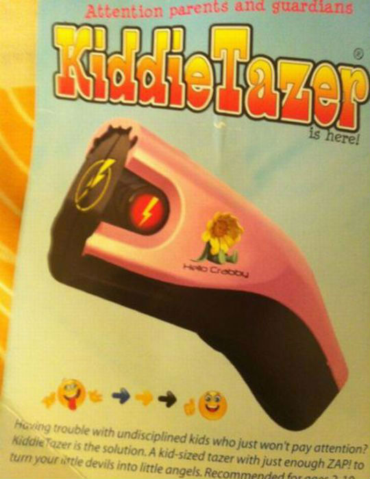 A Toy Taser to Tase Children-15 Children Toys That Are Inappropriate On So Many Different Levels