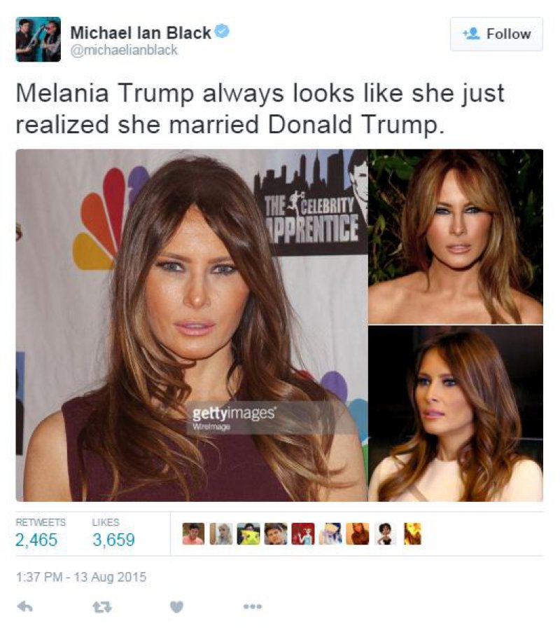 Melania Trump-15 Hilarious Tweets About Donald Trump Sure To Make You Laugh