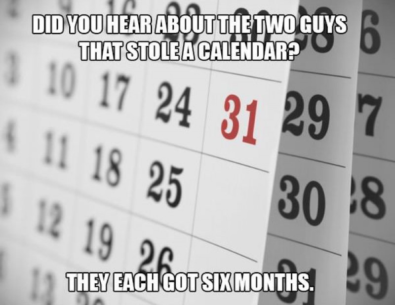 This Calendar Pun-15 Terrible Jokes That Are Actually Funny