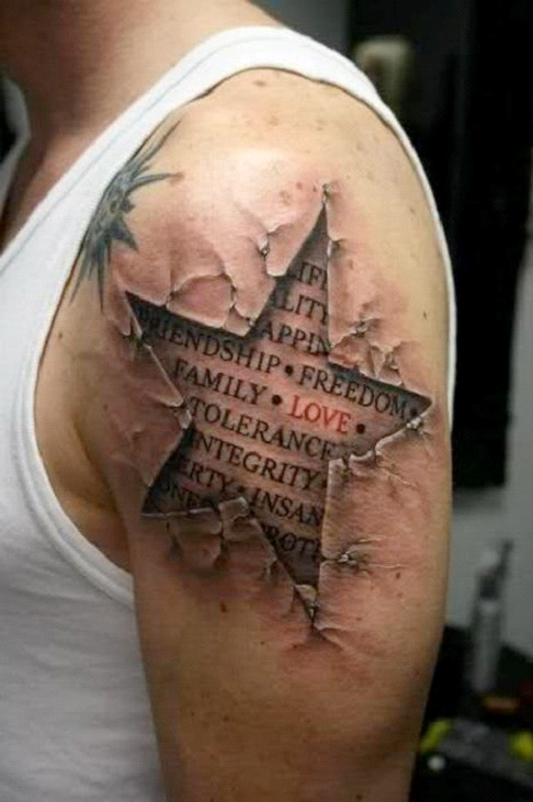 Starred-24 Most Amazing Illusion Tattoos