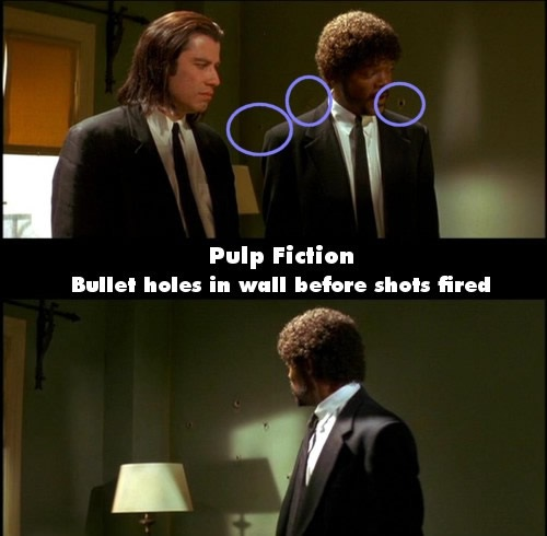 Magic bullet holes-24 Movie Mistakes You Never Noticed