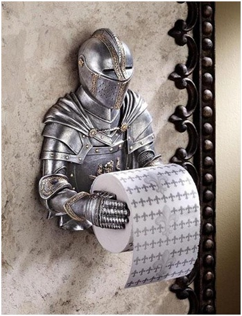 Knight Toilet Paper-Must Have Man Cave Accessories