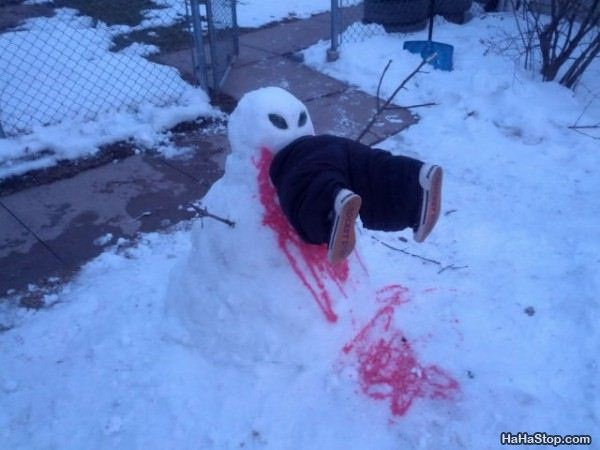 Feeling hungry-Craziest Snowmen Ever