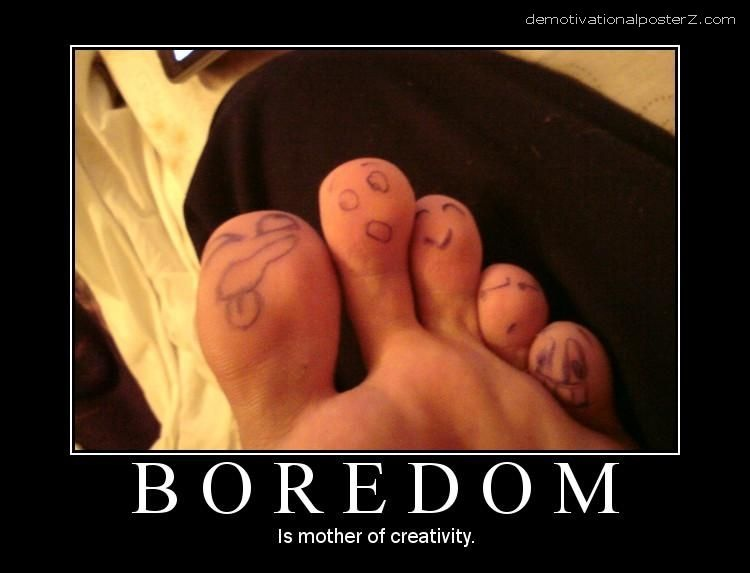 Get those toes done-24 Funny Things People Do When Bored At Home