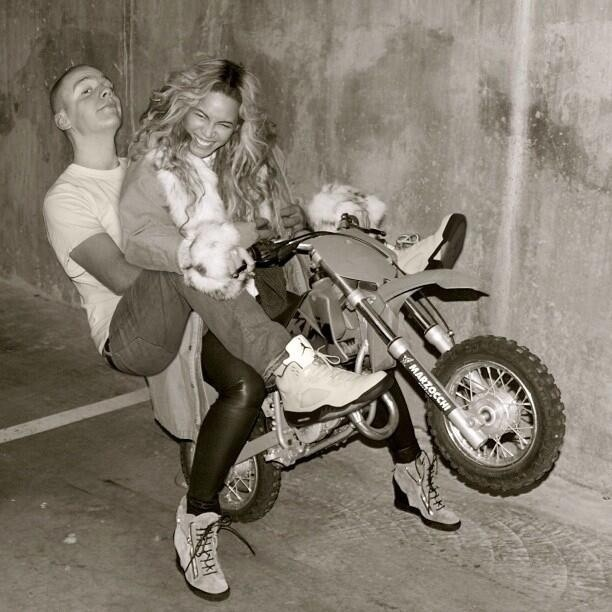 Ride that bike-Man Photoshops Himself With Famous Celebrities
