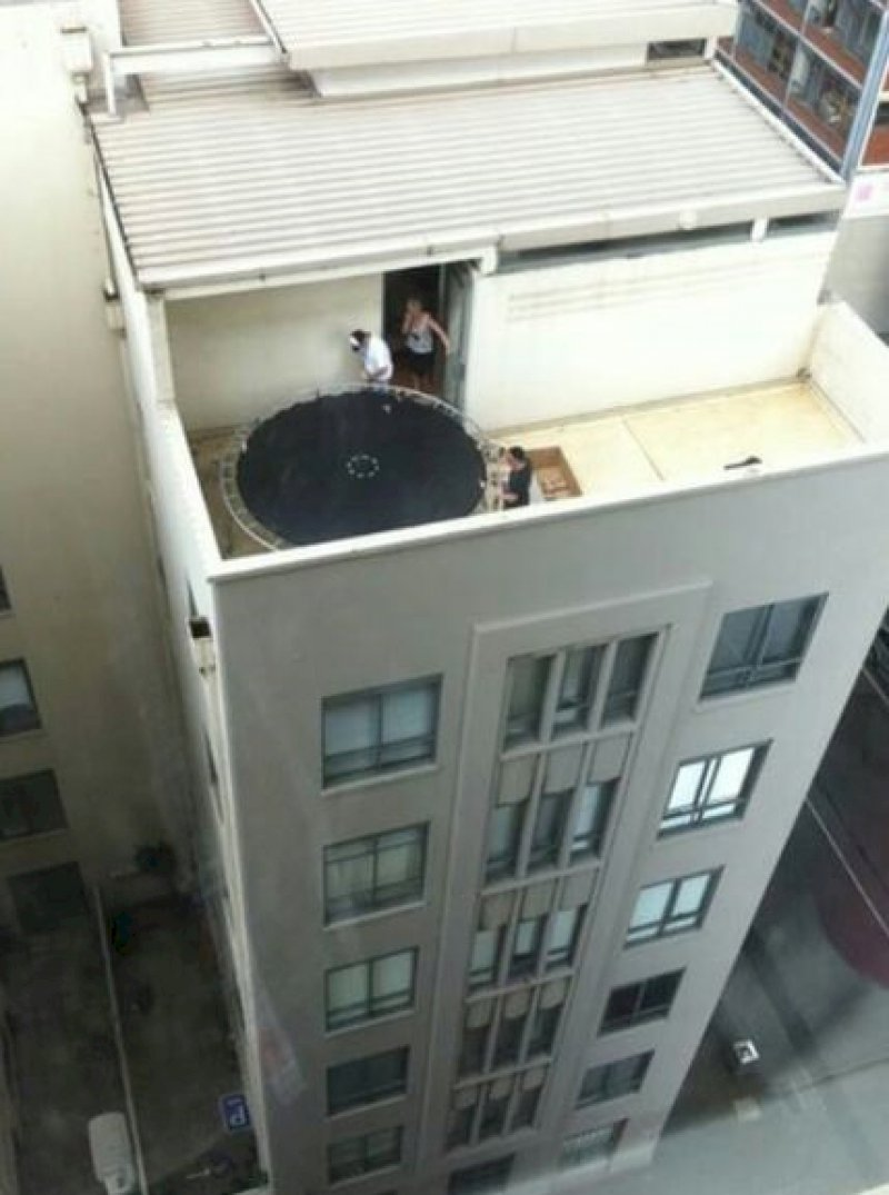 World's Most Scary Trampoline -15 People Who Failed At Evolution Badly