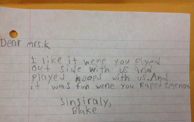 Just wow-Hilarious And Honest Notes From Kids