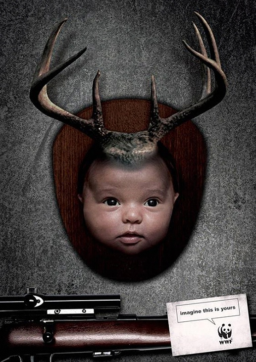 Would You Want Your Baby's Head Mounted?-24 Creative WWF Ads