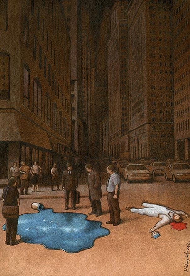 Different priorities-Thought-Provoking Satirical Illustrations By Pawel Kuczynski