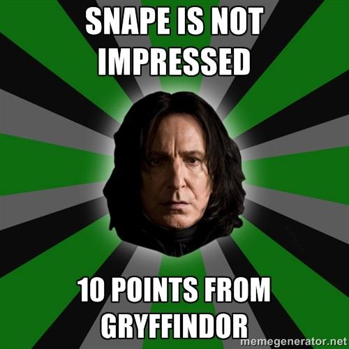 Keep him happy-'10 Points For Gryffindor' Memes