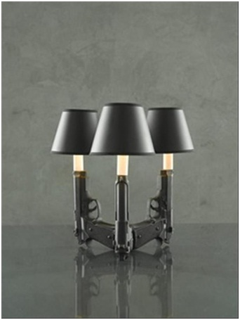 Gun Lamp-Must Have Man Cave Accessories