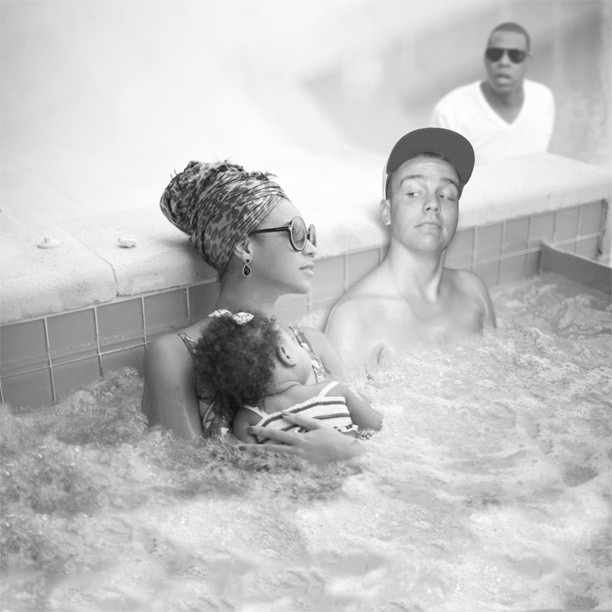 Jay-Z is shocked-Man Photoshops Himself With Famous Celebrities