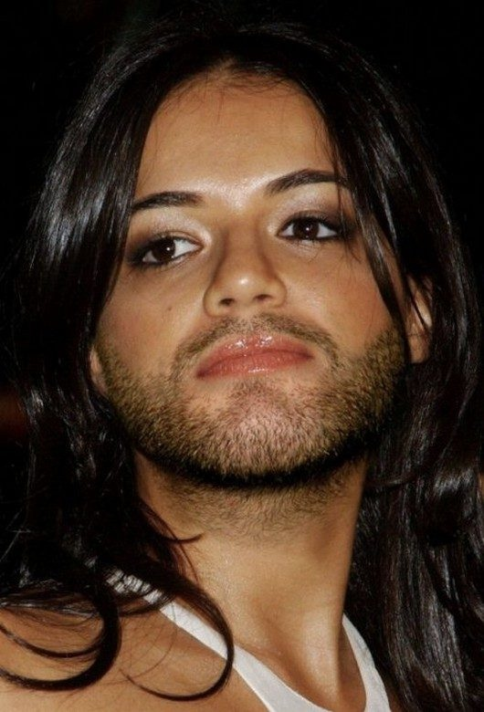 Michelle Rodriguez-24 Hilarious Female Celebrities With Beard Photos