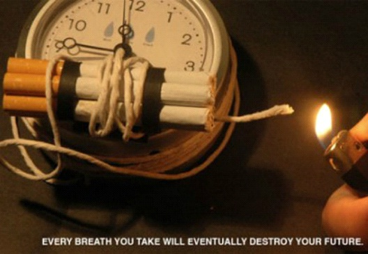 Ticking Time Bomb-24 Most Creative Anti-Smoking Ads