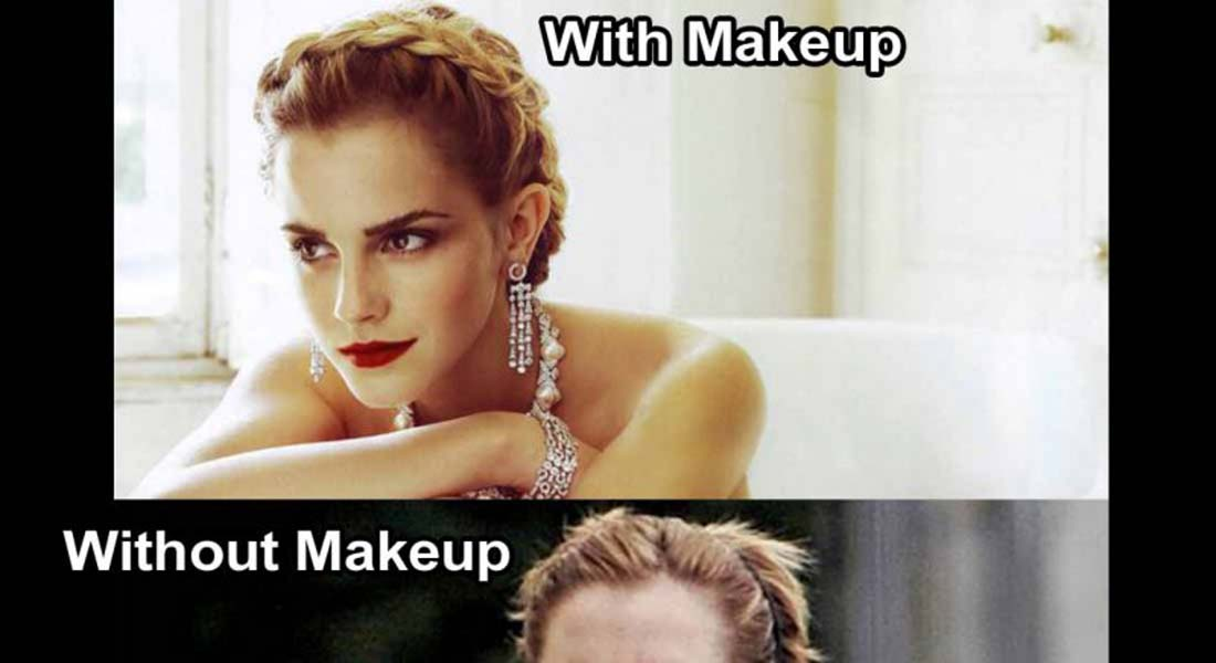 15 Celebrities With And Without Makeup